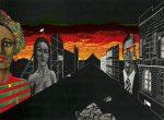 Dekorace III. / Scenery III, 1980, linoryt / linocut / 50x36cm