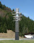Vinutí / Winding, 1990, nerez, hliník, ocel / inox, alluminium, steel / výška / high / 500cm